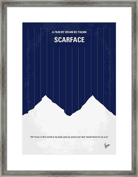 No158 My Scarface Minimal Movie Poster Framed Print