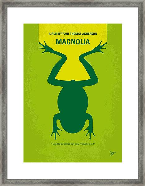 No159 My Magnolia Minimal Movie Poster Framed Print
