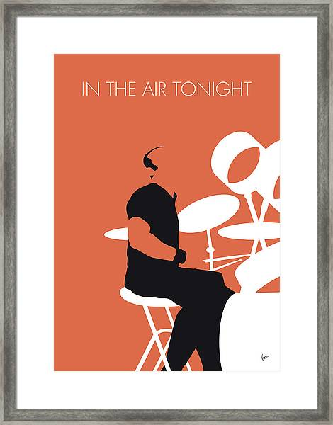No163 My Phil Collins Minimal Music Poster Framed Print