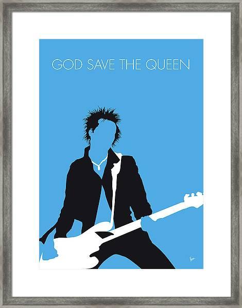 No169 My Sex Pistols Minimal Music Poster Framed Print