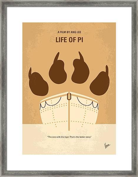 No173 My Life Of Pi Minimal Movie Poster Framed Print
