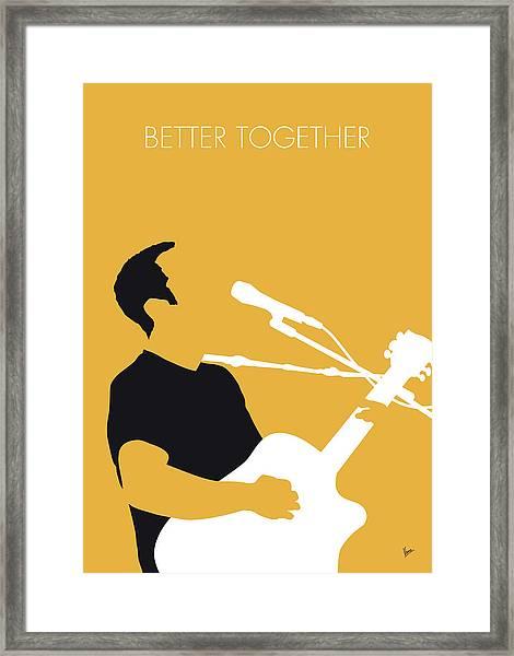 No174 My Jack Johnson Minimal Music Poster Framed Print