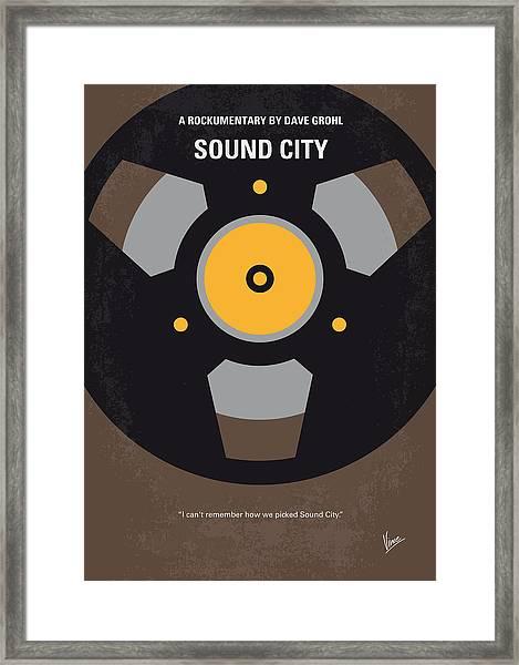 No181 My Sound City Minimal Movie Poster Framed Print