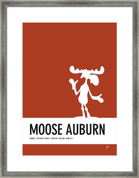 No19 My Minimal Color Code Poster Bullwinkle Framed Print