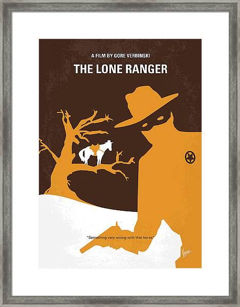 No202 My The Lone Ranger Minimal Movie Poster Framed Print