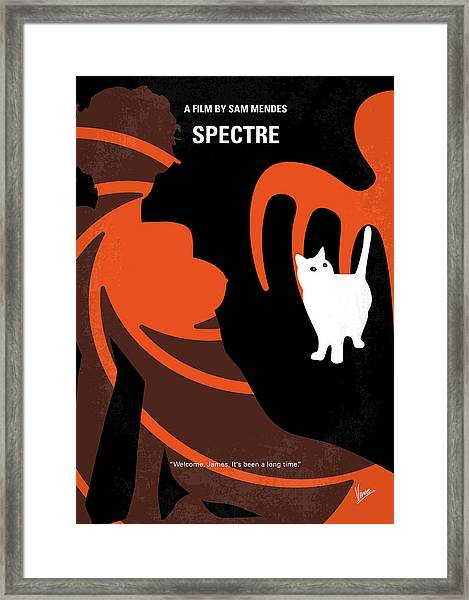 No277-007-2 My Spectre Minimal Movie Poster Framed Print