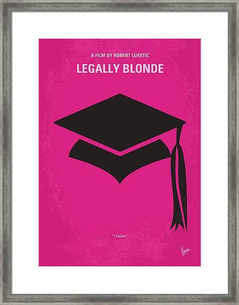No301 My Legally Blonde Minimal Movie Poster Framed Print
