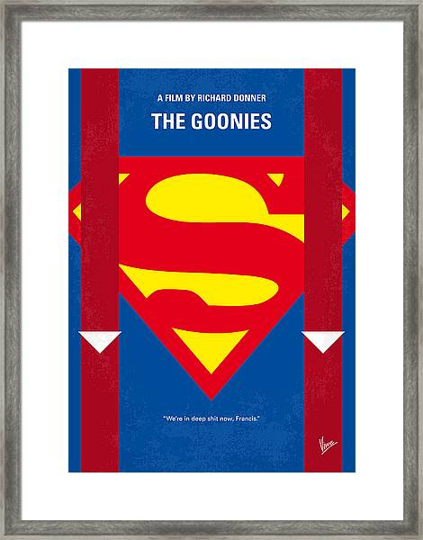 No456 My The Goonies Minimal Movie Poster Framed Print