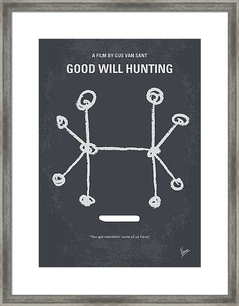 No461 My Good Will Hunting Minimal Movie Poster Framed Print