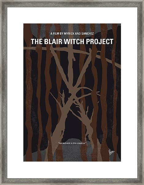 No476 My The Blair Witch Project Minimal Movie Poster Framed Print