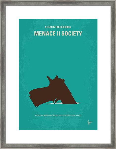 No484 My Menace II Society Minimal Movie Poster Framed Print
