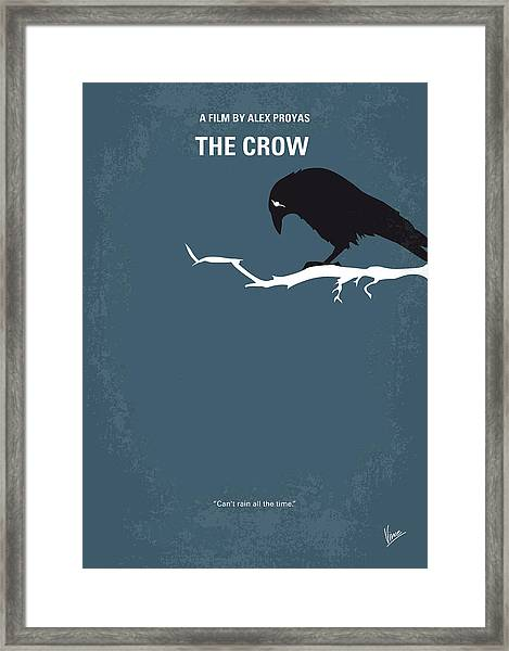 No488 My The Crow Minimal Movie Poster Framed Print