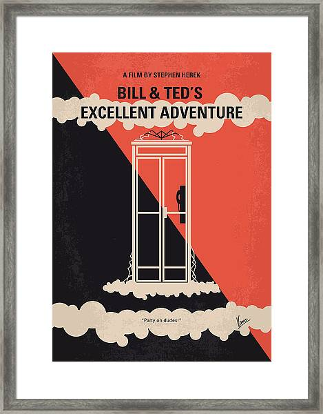 No490 My Bill And Teds Excellent Adventure Minimal Movie Poster Framed Print