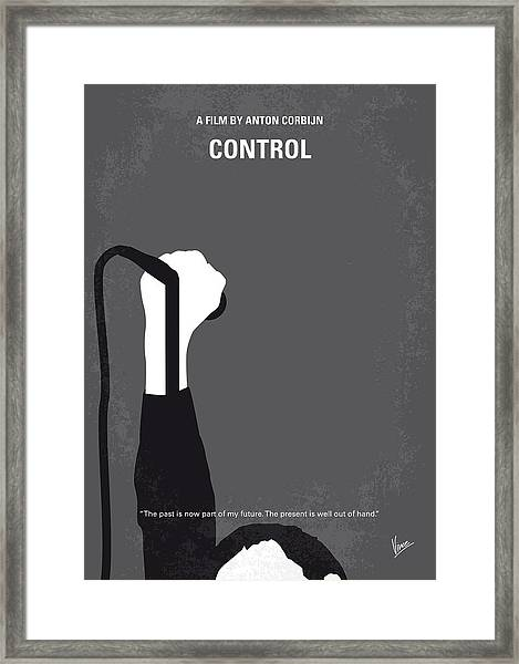 No508 My Controle Minimal Movie Poster Framed Print