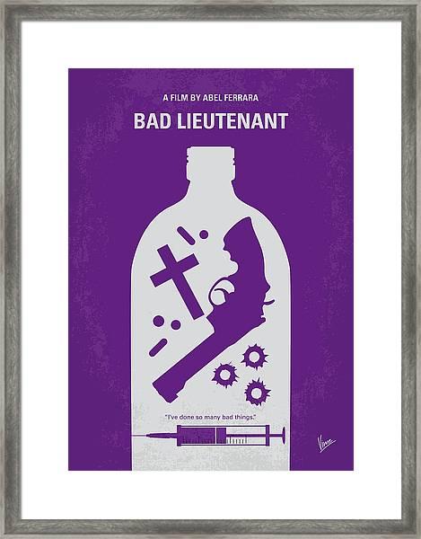 No509 My Bad Lieutenant Minimal Movie Poster Framed Print