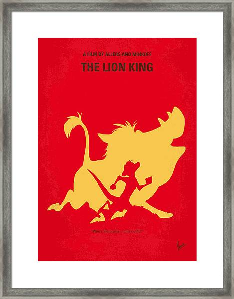 No512 My The Lion King Minimal Movie Poster Framed Print