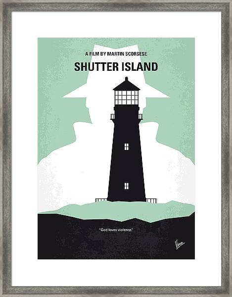 No513 My Shutter Island Minimal Movie Poster Framed Print