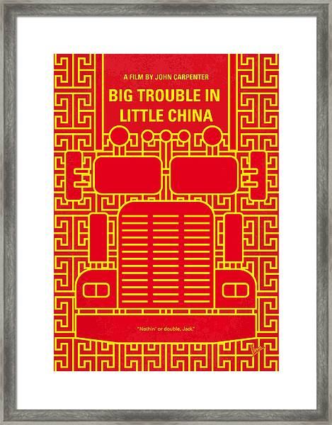 No515 My Big Trouble In Little China Minimal Movie Poster Framed Print