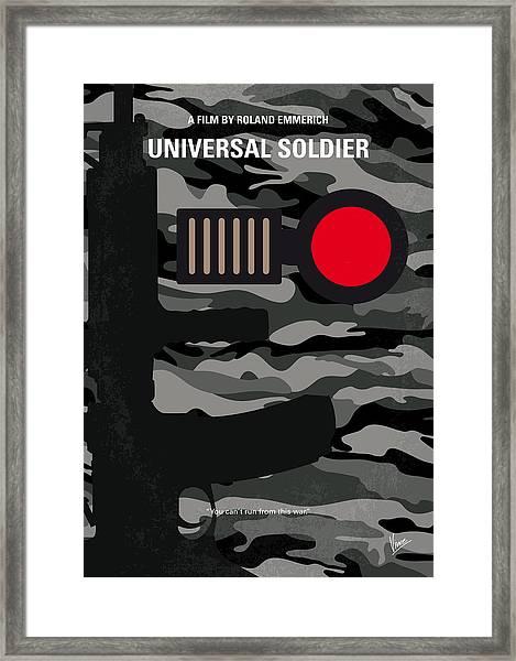 No523 My Universal Soldier Minimal Movie Poster Framed Print