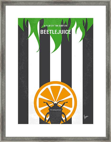 No531 My Beetlejuice Minimal Movie Poster Framed Print