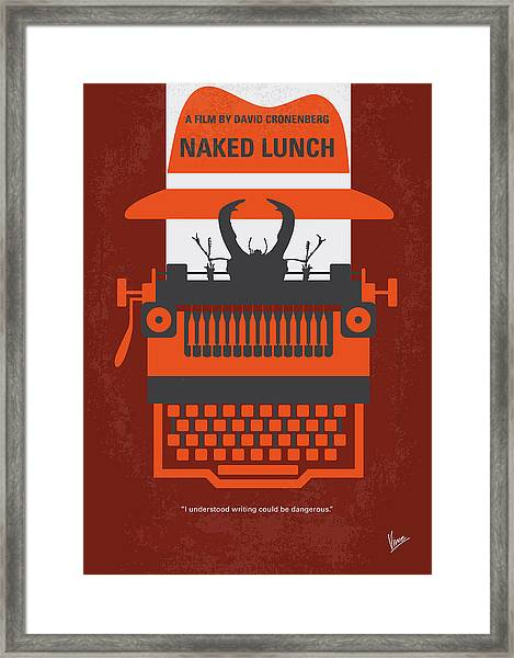 No534 My Naked Lunch Minimal Movie Poster Framed Print