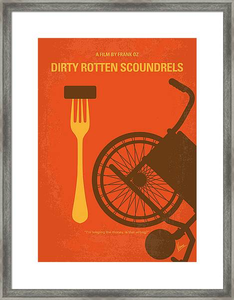No536 My Dirty Rotten Scoundrels Minimal Movie Poster Framed Print