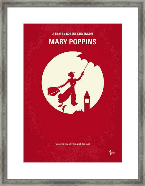 No539 My Mary Poppins Minimal Movie Poster Framed Print