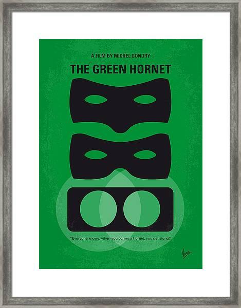 No561 My The Green Hornet Minimal Movie Poster Framed Print