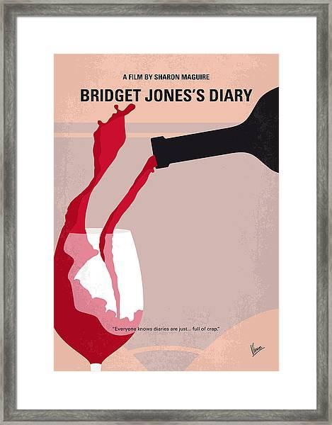 No563 My Bridget Jones Diary Minimal Movie Poster Framed Print