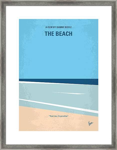 No569 My The Beach Minimal Movie Poster Framed Print