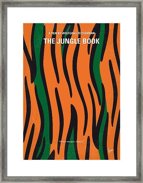 No601 My Jungle Book Minimal Movie Poster Framed Print