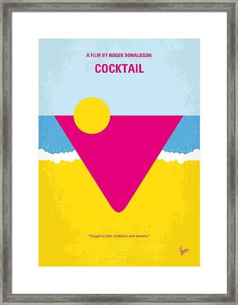 No603 My Cocktail Minimal Movie Poster Framed Print