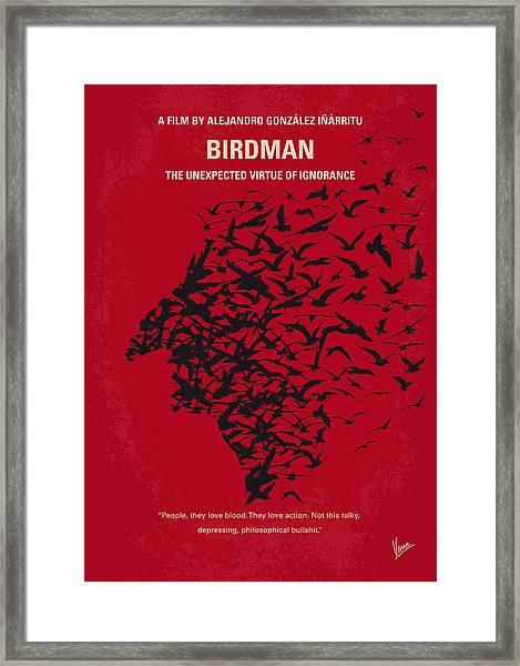No604 My Birdman Minimal Movie Poster Framed Print