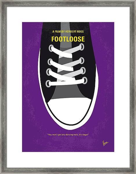 No610 My Footloose Minimal Movie Poster Framed Print