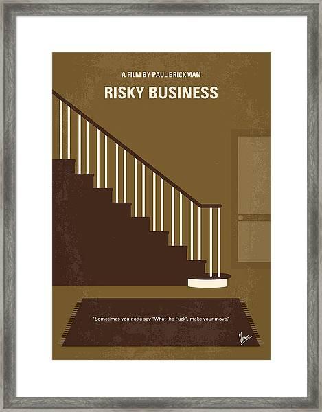 No615 My Risky Business Minimal Movie Poster Framed Print