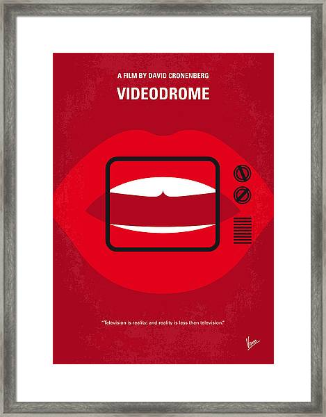 No626 My Videodrome Minimal Movie Poster Framed Print