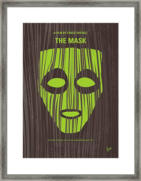 No647 My The Mask Minimal Movie Poster Framed Print