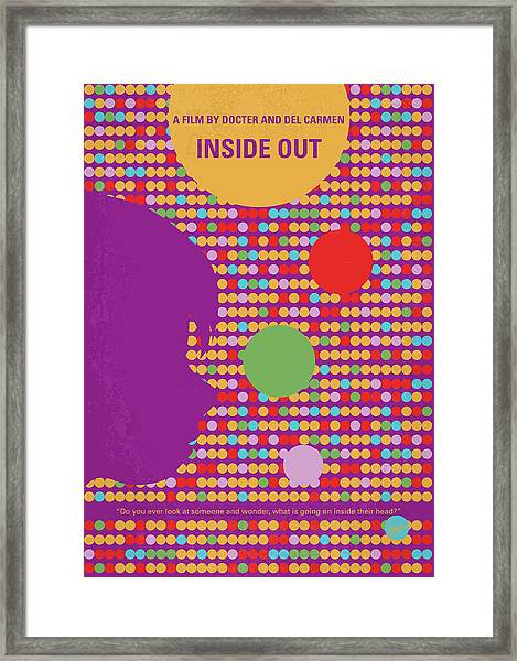 No664 My Inside Out Minimal Movie Poster Framed Print