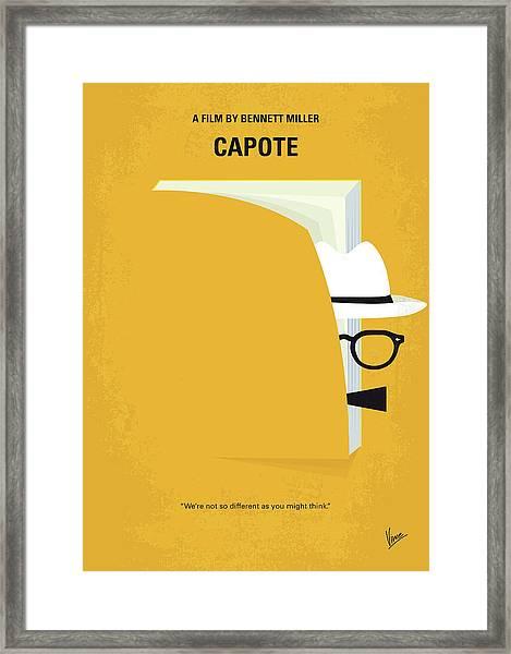 No671 My Capote Minimal Movie Poster Framed Print