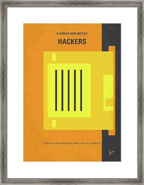 No684 My Hackers Minimal Movie Poster Framed Print