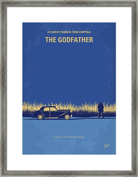 No686-1 My Godfather I Minimal Movie Poster Framed Print