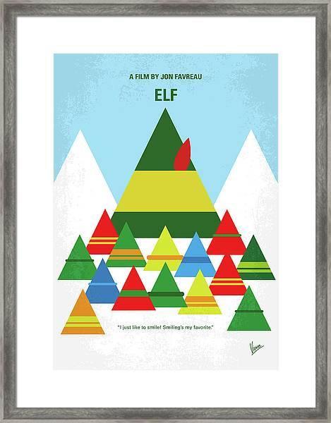 No699 My Elf Minimal Movie Poster Framed Print