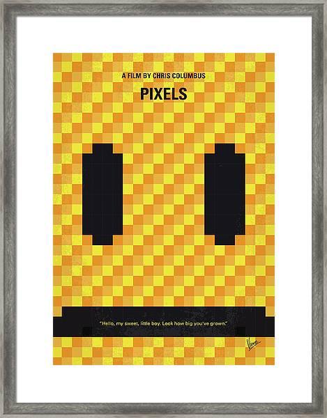 No703 My Pixels Minimal Movie Poster Framed Print