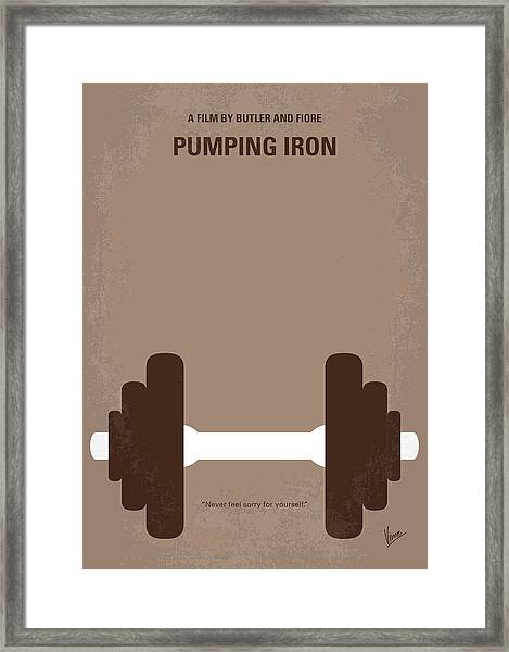 No707 My Pumping Iron Minimal Movie Poster Framed Print