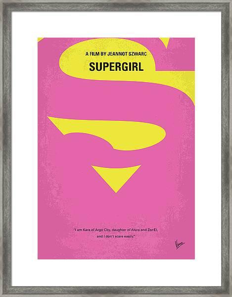 No720 My Supergirl Minimal Movie Poster Framed Print