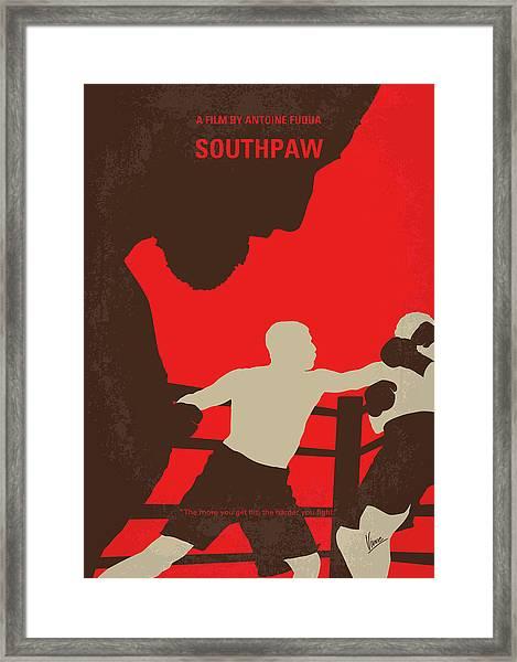 No723 My Southpaw Minimal Movie Poster Framed Print