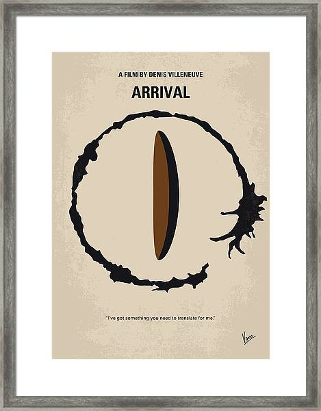 No735 My Arrival Minimal Movie Poster Framed Print
