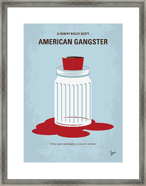 No748 My American Gangster Minimal Movie Poster Framed Print