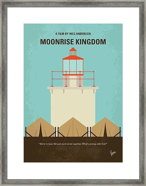 No760 My Moonrise Kingdom Minimal Movie Poster Framed Print