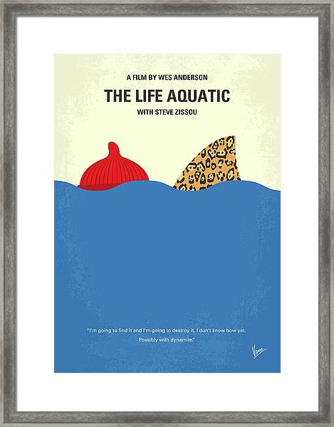 No774 My The Life Aquatic With Steve Zissou Minimal Movie Poster Framed Print